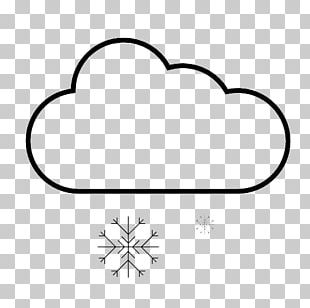 Snow Weather Cloud White Icon PNG