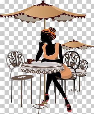 Paris Coffee Cafe Bistro Sketch PNG