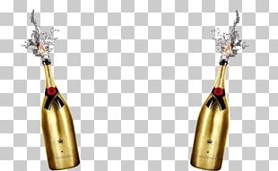 Red Wine Champagne Beer Bottle PNG