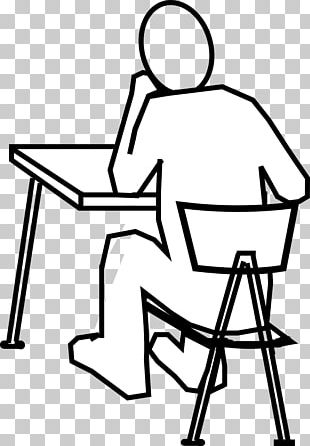 Standing Desk Table Drawing PNG