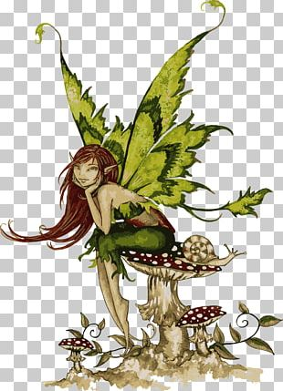 Fairy Pixie Art Embroidered Patch Flower Fairies PNG