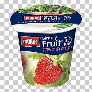 Strawberry Yoghurt Müller Food Mousse PNG