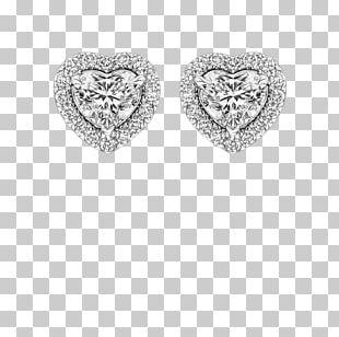 Earring Carat Diamond Cut Brilliant PNG