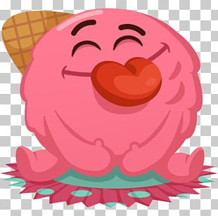 Sticker VKontakte Telegram Ice Cream Emoticon PNG