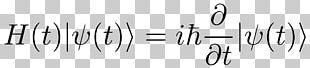 Schrödinger Equation Schrödinger's Cat Quantum Mechanics Wave Equation Physics PNG