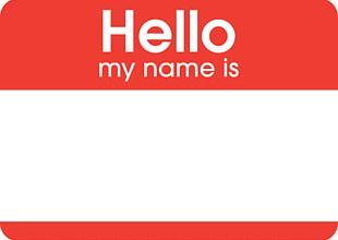 Sticker Name Tag Label Costume PNG