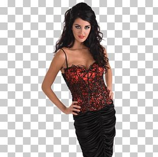 Corset Robe Costume Dress Gothic Fashion PNG