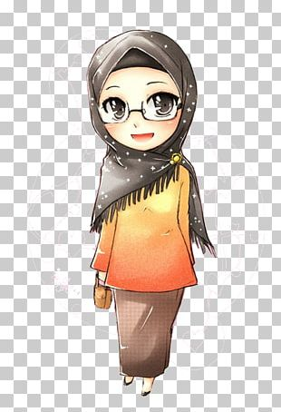 Muslim Islam Hijab Manga Anime PNG