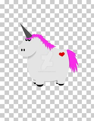 Unicorn Fat Cartoon Legendary Creature PNG