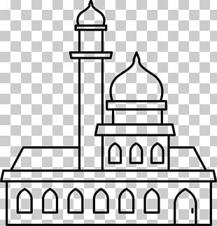 Great Mosque Of Mecca Graphics Illustration Line Art PNG