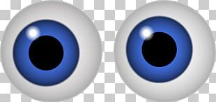 Googly Eyes Blue PNG