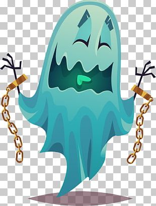 Cartoon Ghost Illustration PNG