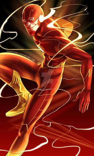 Flash Art Drawing DC Comics Comic Book PNG