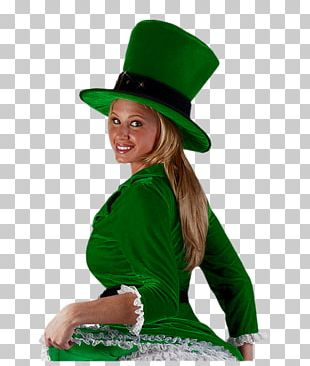 Saint Patrick's Day Woman Leprechaun PNG