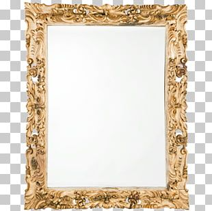 Frames Mirror Wood Carving PNG