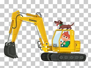 Heavy Equipment Excavator Graphic Design PNG