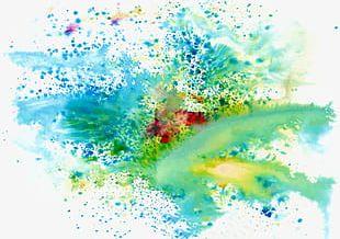 Cool Colors Splash Paint Color Background PNG