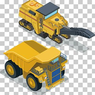 Excavator Architectural Engineering Isometric Projection Transport PNG