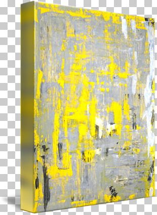 Modern Art Oil Painting Abstract Art Yellow PNG