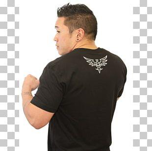 T-shirt Black M Sleeve Mixed Martial Arts Clothing PNG