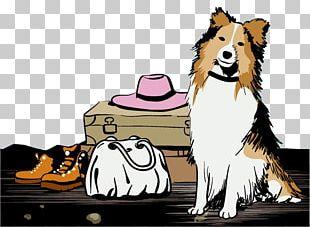 Golden Retriever Poodle Old English Sheepdog Puppy Illustration PNG