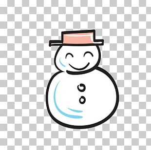 Snowman Drawing Icon PNG
