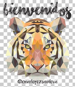 Tiger Cat Art Painting Design PNG