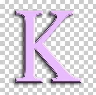Letter Purple-K Paper Idea PNG