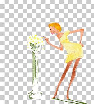 Flower Woman Illustration PNG
