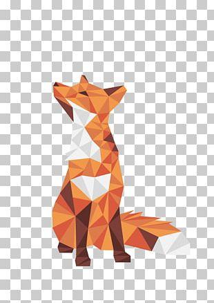 Illustration Low Poly Canidae Mohamed Achraf Design PNG