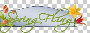 Spring Fling Open House Graphic Design Logo PNG