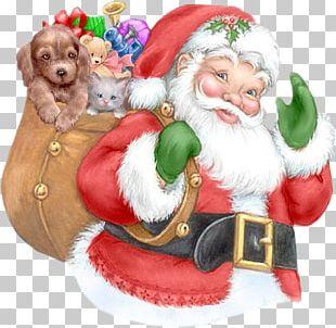 Santa Claus Père Noël Christmas Animaatio PNG