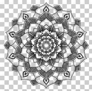 Mandala Coloring Book Sacred Geometry Line Art PNG
