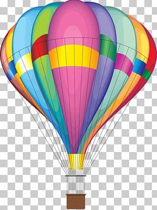 Airplane Air Transportation Hot Air Balloon PNG