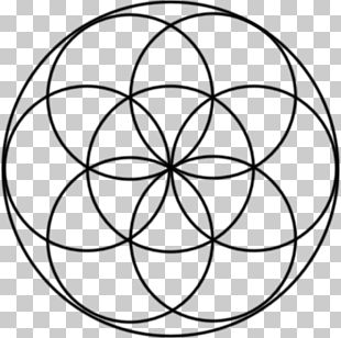 Overlapping Circles Grid Shape Symbol Sacred Geometry PNG