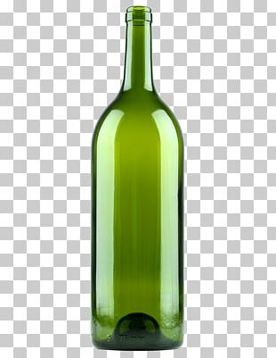 White Wine Glass Bottle Beer PNG