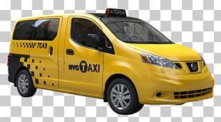 New York City Nissan NV200 Taxi Van Nissan NV200 Taxi PNG