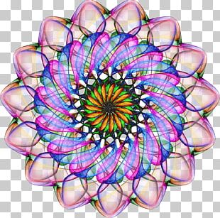 Kaleidoscope Symmetry Circle Pattern PNG