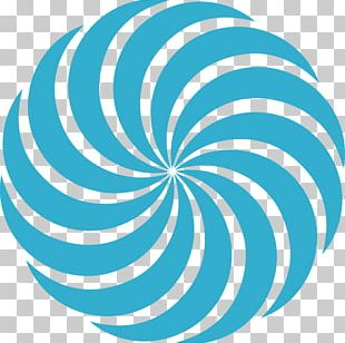 Turquoise Teal Circle Spiral Point PNG