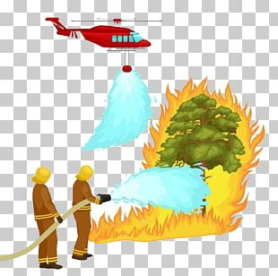 Helicopter Firefighter Wildfire PNG