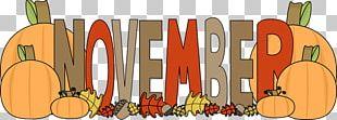 November Banner Autumn PNG