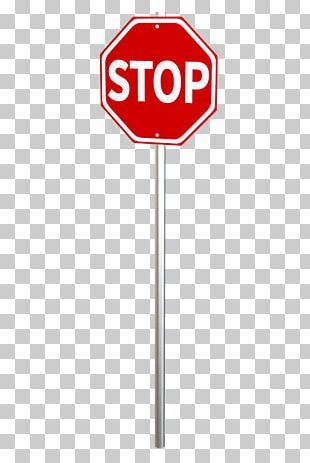 Stop Sign On Pole PNG