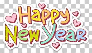 Happy New Year Sticker PNG