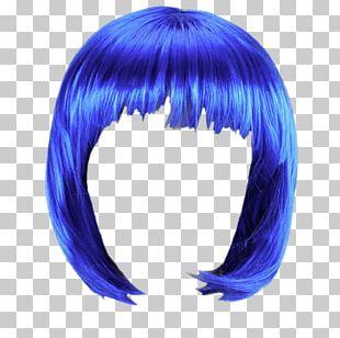 Wig Blue Bob PNG