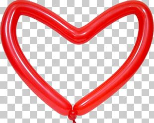 Balloon Modelling Heart Valentine's Day PNG