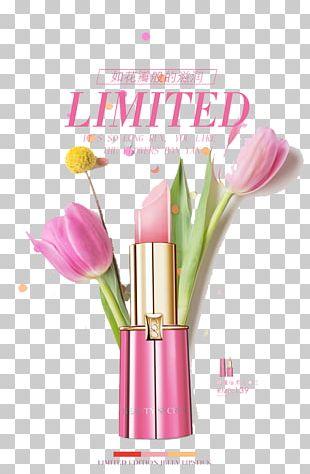 Lipstick Poster Designer PNG