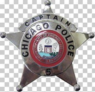 Badge Chicago Police Department Police Officer Detective PNG