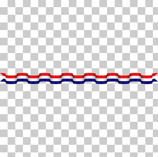 Red Ribbon Blue White PNG