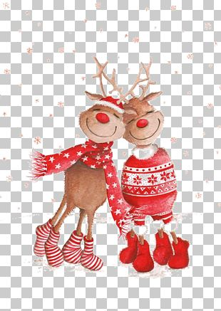 Rudolph Christmas Card New Year PNG