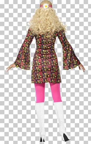 1960s Hippie Disguise Costume Dress PNG